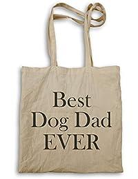 El mejor papá del perro nunca en novedad negra bolso de mano ii12r