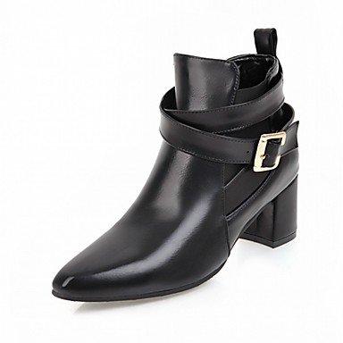 Rtry Zapatos De Cuero Sintético Pu Otoño Invierno Comfort Manera De La Novedad Botas Chunky Talón Punta Zapatillas / Botas De Hebilla Para El Partido Us8.5 / Eu39 / Uk6.5 / Cn40