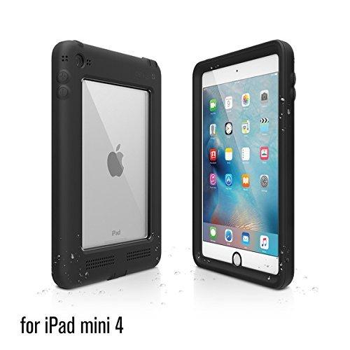 Catalyst Hülle für Apple Ipad Mini 4 (tarn-schwarz), wasserdicht, schockresistent, mit voller Touchscreen Funktion inkl. Touch ID - mit zusätzlichem, verstellbarem Aufsteller