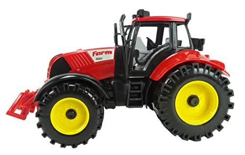 TOYLAND Trattore Agricolo Rosso con Motore a Ventaglio da 22 cm x 12 cm con Cofano di Apertura
