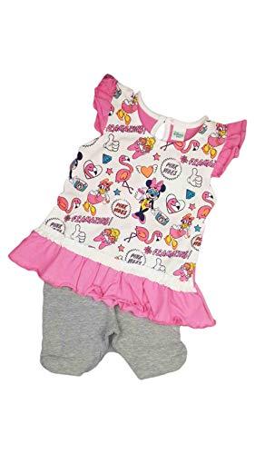 Ellepi vestitino abitino maglia mezza manica a giro con pantaloncino leggings disney baby minnie (12mesi)