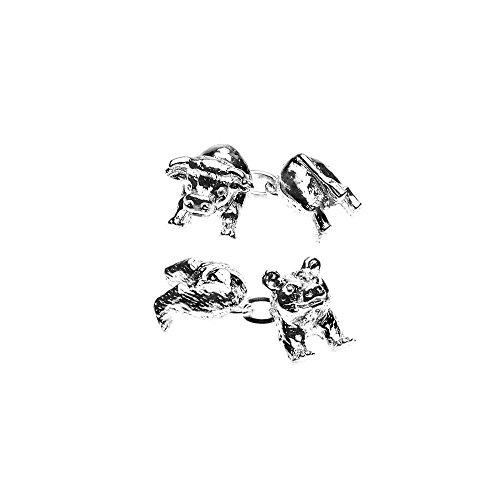 Manschettenknöpfe, Christopher Simpson, Tiere, Bulle und Bär–grau–Christopher Simpson