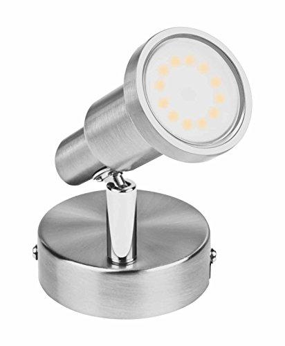 1-licht Halogen-wand-lampe (Osram LED Scheinwerfer, Spot, silber, 3 Watt, GU10- Fassung, 120° Abstrahlwinkel, Warmweiß- 2700K 4052899393646)