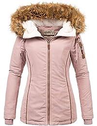 72e8cc112230 Urban Surface Damen Mädchen Winterjacke warme Jacke Outdoorjacke mit Kapuze  XS S M L XL