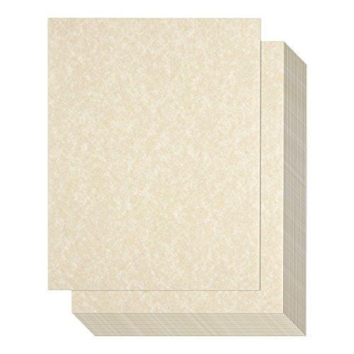 96Stück Alter Pergament Papier-parchtone Papier-Vintage Scrapbook, 21,6x 27,9cm 8.5-x-11-Inch cremefarben