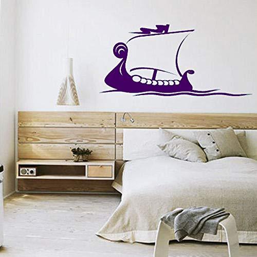xingbuxin Wandtattoo Kreative Boot Muster Sailfish Wandaufkleber Kinderzimmer Abnehmbare Kunstwand Jungen Schlafzimmer Poster Wohnkultur Cy238 5 114x54 cm