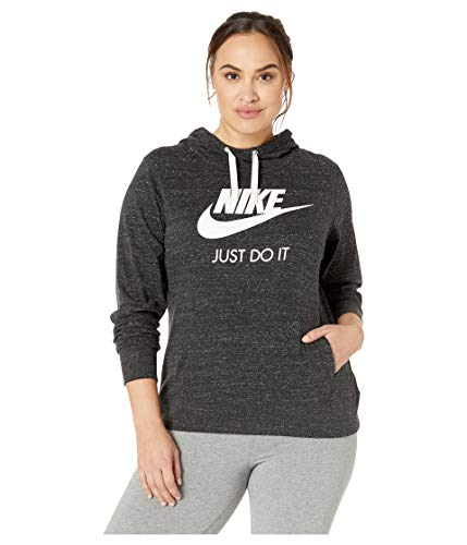 Nike Damen W NSW Gym VNTG Hoodie HBR Plus Sweatshirt, Black/Sail, 2X - Nike Vintage Shirts