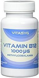 Vitasyg Vitamin B12 Methylcobalamin hochdosiert 1000 µg - 365 Tabletten, 1er Pack (1 x 74 g)