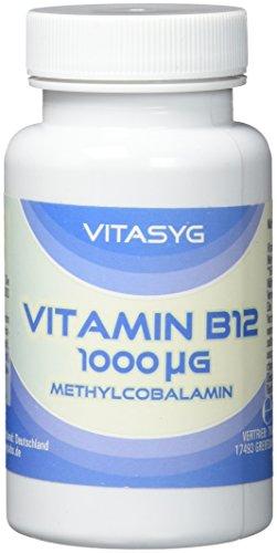 Vitasyg Vitamin B12 Methylcobalamin hochdosiert 1000 µg - 365 Tabletten, 1er Pack (1 x 74 g) -