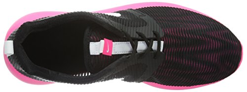 Nike Roshe One Flight Weight (Gs), Baskets Fille Noir (Nero (Black/White/Hyper Pink)Black/White/Hyper Pink)