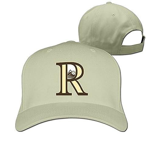 Huseki Colorado Rockies Logo Unisex Fashion Adjustable Pure 100% Cotton Peaked Cap Sports Washed Baseball Hunting Cap Cricket Cap Black