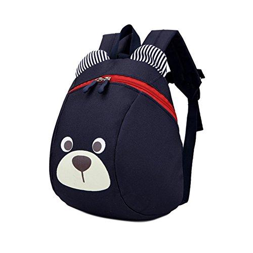 Zaino borsa ultraleggera per bambini, zaino per bambino con imbracature di sicurezza e redini / cinghia di sostegno. Navy Blue