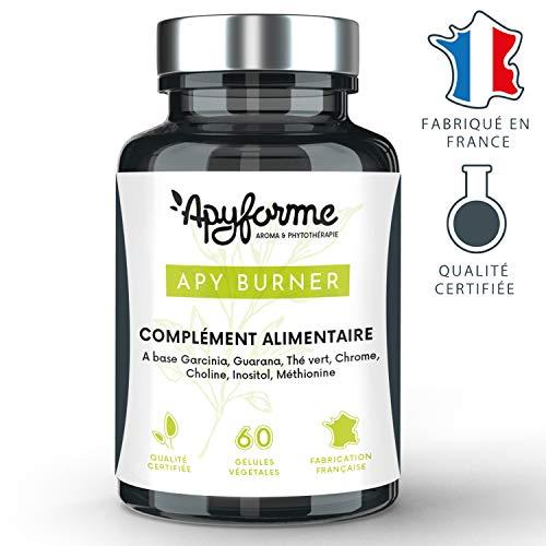 Apyforme - Apy Burner - Integratore alimentare dimagrante - Bruciatore di grasso extra forte - Per uomini e donne - 7 principi attivi dimagranti - Garcinia cambodgia - 60 capsule Made in France
