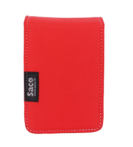 Saco Dual Hard Disk Drive Case Cover Wallet for Hard Disk DriveTwo Capacity Lenovo F309 USB3.0 1TB External Hard Disk - (Red)