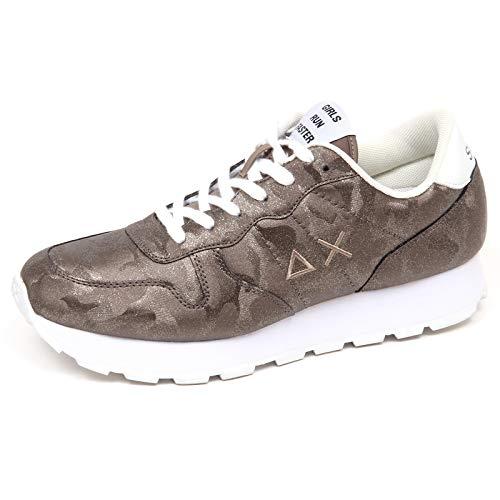 37b2304ea8a41 E8712 Sneaker Donna Green Brown SUN 68 Scarpe Glitter Camouflage Shoe Woman   39