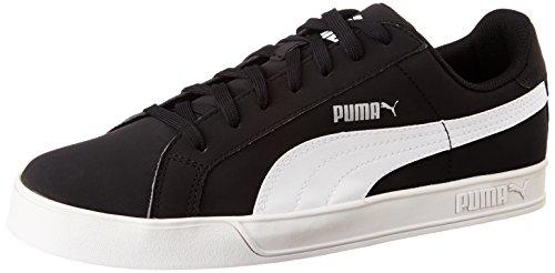 Puma Smash Vulcanised - Scarpe da Tennis Unisex Adulti, Nero (BLACK/WHITE 09BLACK/WHITE 09), 45 EU (10.5 UK)