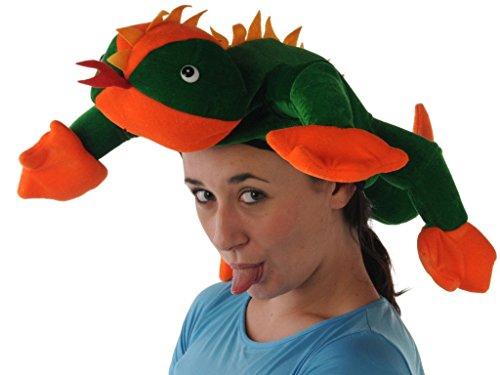 Neuheit Reptile Hat Ideal für Fancy Dress und Parteien (Chef Indische Kostüme)