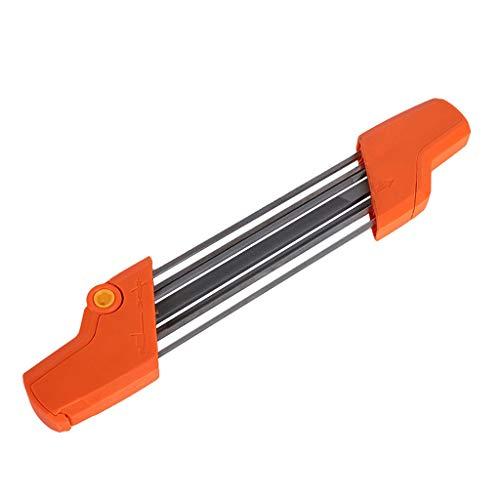 fasloyu Outil d'affûtage pour tronçonneuse 2 en 1 - Outil d'affûtage Rapide - Outil de meulage de chaîne pour aiguiser Leur chaîne 38 × 6 × 2.5cm Orange
