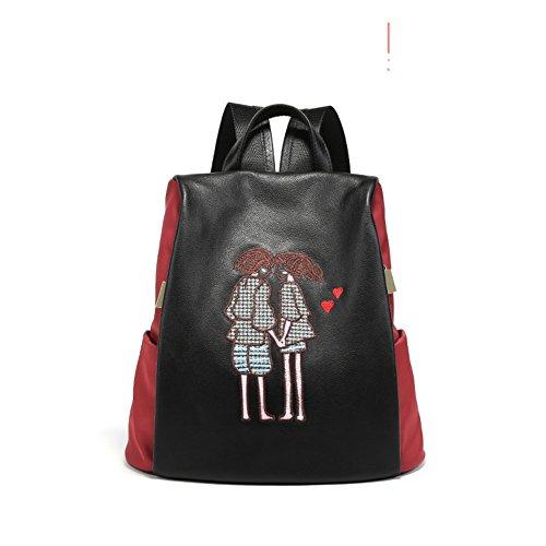 Leggero grande-capacit¨¤ borsa a tracolla ,zaino selvaggio fashion-C B