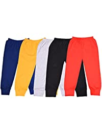 ALOFT Unisex Muliticolor Plain Cotton Full Length Track Pants - Combo of 5pcs