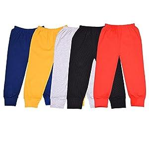 ALOFT Unisex Muliticolor Plain Cotton Full Length Track Pants – Combo of 5pcs