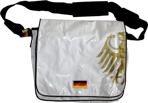 Messenger-Tasche im Deutschland-Design Weiß
