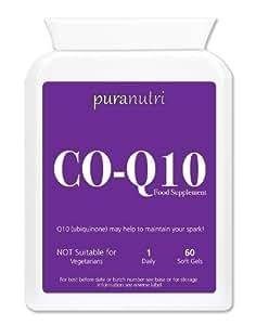 puranutri co enzyme q10 coq10 300mg 60 soft gels amazon. Black Bedroom Furniture Sets. Home Design Ideas