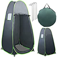 COSTWAY Pop UP Tent, Foldable & Portable Privacy Tent for Camping, Biking, Toilet, Shower, Fishing, Changing Clothes, Easy to Install and Storage, Spacious Tent Shelter with Extra Tall