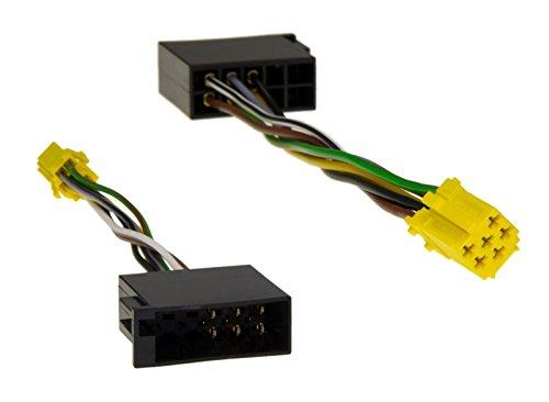 Adapter-Universe® Line Out Adapter Kabel Mini ISO 6pol Buchse auf ISO 10pol Stecker für VW Skoda