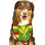 Pet Scarf Kanaka Maoli Native Hawaiian Flag Dog Bandana Collars Dog Bandana Bibs Head Scarf Accessories