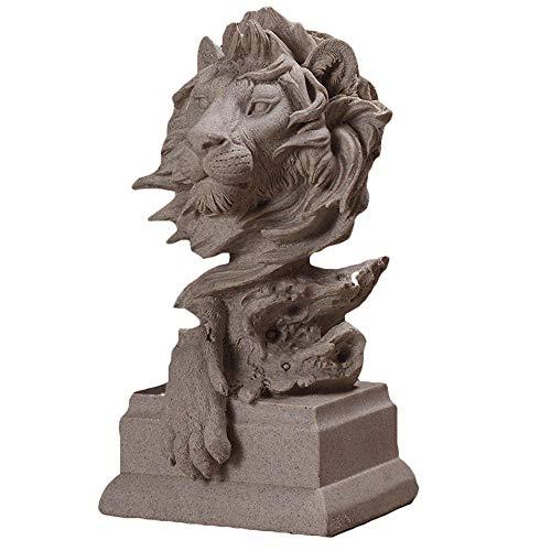 Kostüm Kreative Zeigen - DDCYY LöWe Skulptur Statue, Tier Dekoration, Dekorative Skulptur, Kunsthandwerk, Geeignet FüR Wohnzimmer, Schlafzimmer, Geschenk