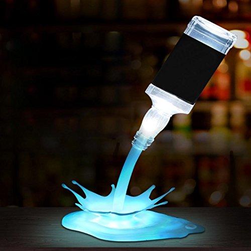 DOLDOA 3D ☛『 USB LED 』Gießen Wein Lampe Nacht Licht High End Geschenk, wiederaufladbar(ohne flasche)