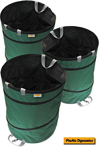 Plastic Dynamics® 170L Pop Up Garten Waste Bag x3pk (170L, 600D Polyester fabric)