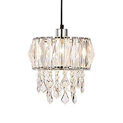 Innoteck sparkly soffitto lampadario paralume con strisce prismatico cristallo acrilico e goccioline