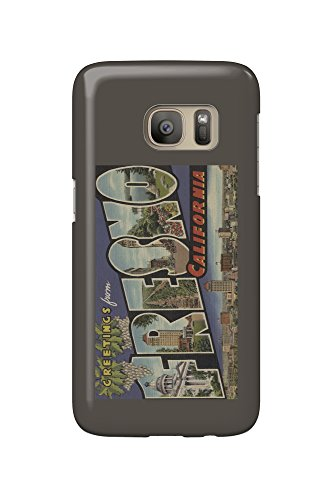 Price comparison product image Fresno,  California - Vintage Halftone (Galaxy S7 Cell Phone Case,  Slim Barely There)