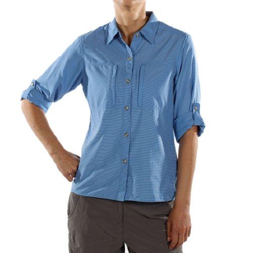 exofficio Damen dryflylite Stripe Long Sleeve Shirt lapis