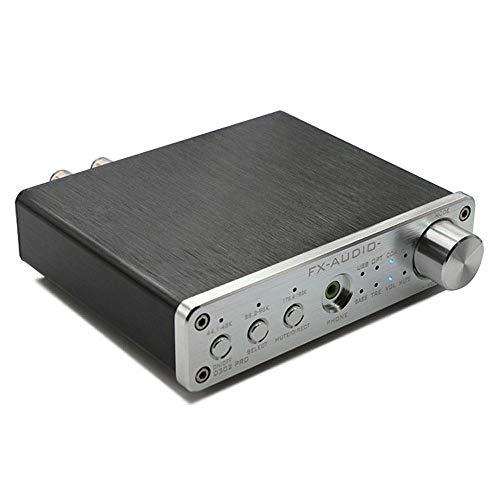 DollaTek FX-Audio D302PRO D302 Update Pure Digital Audio Verstärker Eingang USB/Koaxial/Optisch/AUX 20W + 20W Unterstützung 24Bit / 192KHz DC15V / 4A - Silber