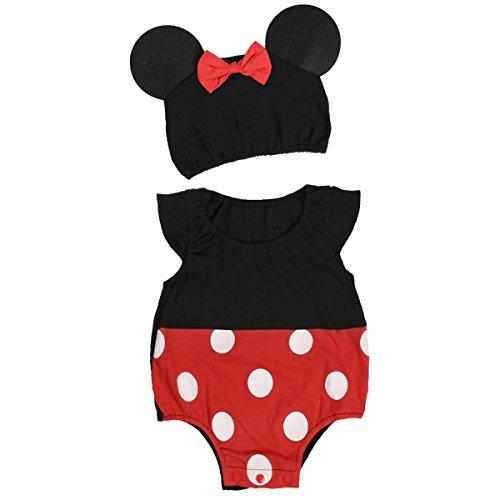 Freebily Baby Body Babystrampler Ärmellos Kostüm Neugebohrene Baby Party Spielanzug Outfit Strampler Kleinkind Säugling Babykleidung 62-74 Style 1 62/3 Monate (Baby Mädchen Kleinkind Kostüm)