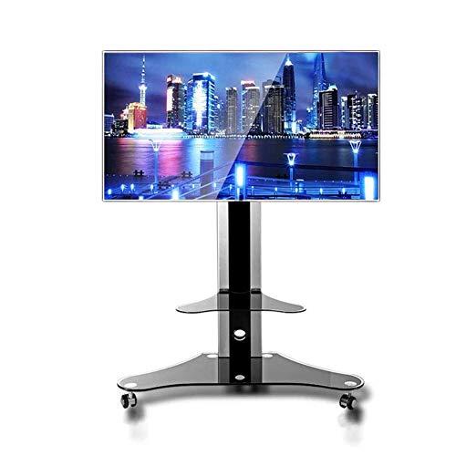 KBKG821 Universal-TV-Wagen, TV-Ständer für 32-65-Zoll-LCD-LED-Fernseher 360 ° drehbar mit Rädern Möbel Flachbildschirm-TV-Ständer und Unterhaltungskonsole Home Office Schlafzimmer