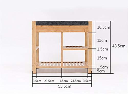 MJY Scarpiera in bambù naturale, scarpa in legno massello Scarpette moderne per divano Sgabello per porta Sgabello per casa,B,