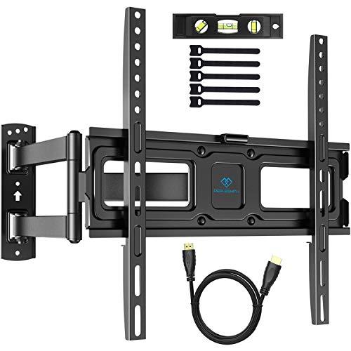 TV Wandhalterung, Schwenkbare Neigbare Halterung für 32-55 Zoll LED, LCD, Plasma, Flach&Curved Fernseher oder Monitor bis zu 50Kg, max.VESA 400x400mm
