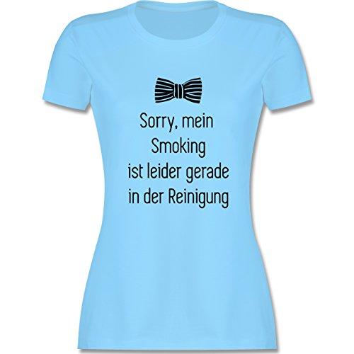 Statement Shirts - Sorry, mein Smoking ist in der Wäsche - tailliertes Premium T-Shirt mit Rundhalsausschnitt für Damen Hellblau