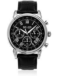 SO & CO New York Quartz Watch Analogue Display and Strap GP15482_Black