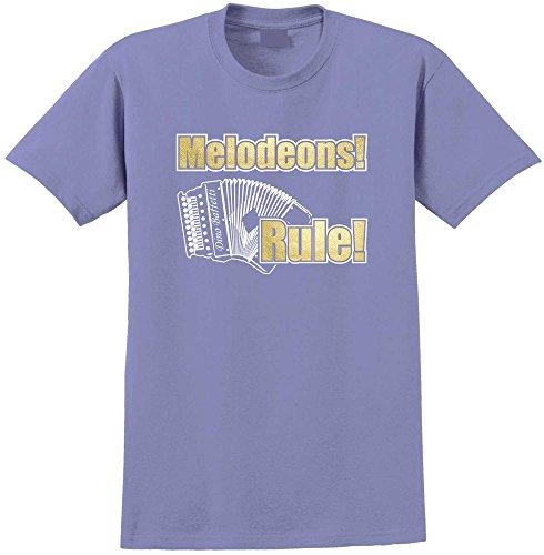 MusicaliTee Melodeon Push Right Buttons - Violett T Shirt Größe 86cm 34in LGE 12-13 Jahr