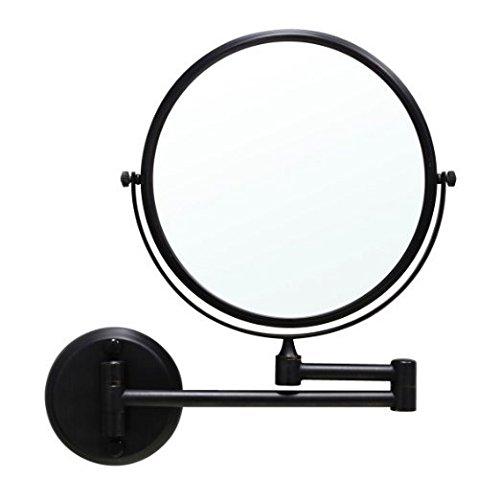 GuRun 1 /10-Fach Vergroesserung Doppelseitiger Wand Kosmetikspiegel,durchmesser rund 20cm, Schwarz,...