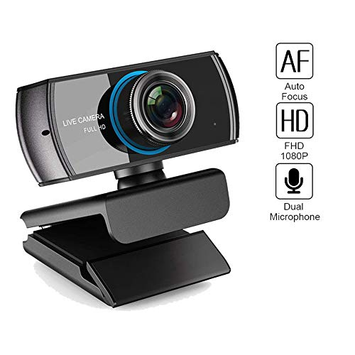 HM2 Videocamera per Webcam Full HD 1080P Videocamera con Microfono, Chat Video e Registrazione, Compatibile con Il Laptop Xbox One PC