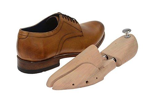 Gordon & Bros Monsieur Chaussures Levet 2320classique rahmengenähter Lacets Chaussures basses avec lacets et chaussures Derby dans coffret cadeau Marron - Tan
