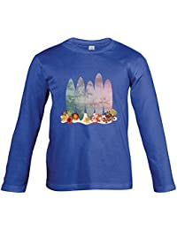 Supportershop T-Shirt Bleu Royal Manches Longues Surf Enfant