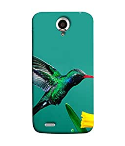 PrintVisa Bird On Flower 3D Hard Polycarbonate Designer Back Case Cover for Lenovo S820