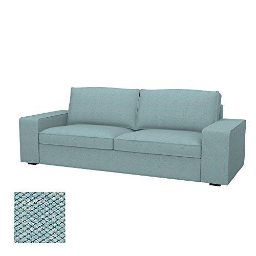 Soferia - IKEA KIVIK Funda para sofá Cama de 3 plazas, Nordic Sea Green